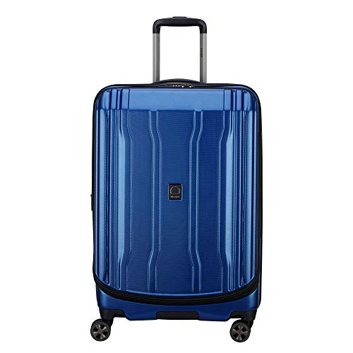 DELSEY Paris Luggage Cruise Lite Hardside 2.0 25″ Checked Lightweight Suitcase, Blue