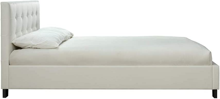 Miliboo Lit 160 x 200 Blanc capitonn/é Marquise
