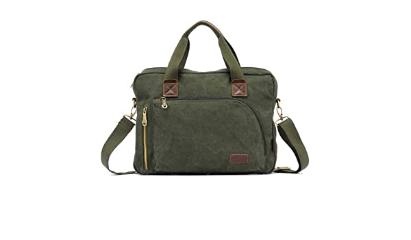 Amazon.com  HITSAN INCORPORATION KAUKKO FJ24 Fashion WalkingZone 13-14 inch  Canvas Briefcase Laptop Tablet Notebook Bag Crossbody Bag Shoulder Bag Hand  Bag ... bd1c9c3ce501e
