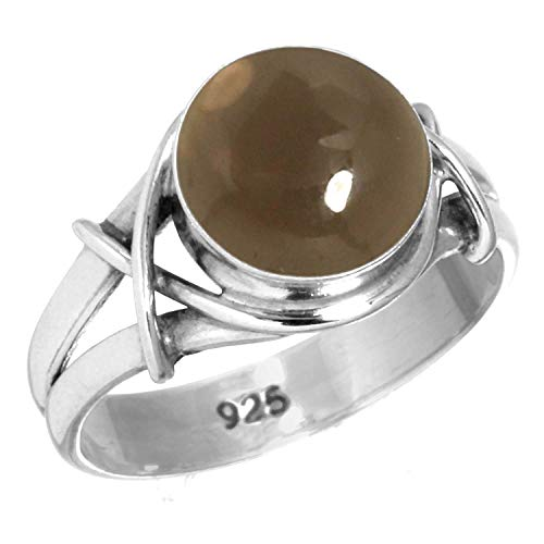 Natural Smoky Topaz Ring 925 Sterling Silver Handmade Jewelry Size 13