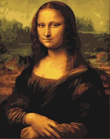 Pintura por Numeros ( ITM-6561) mona lisa