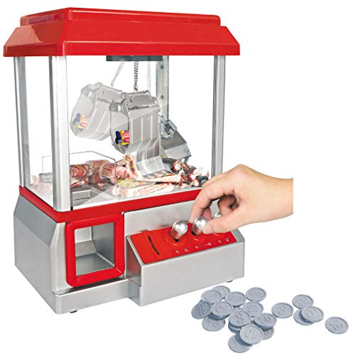 PowerTRC Mini Arcade Claw Machine | Toy and Prize Grabbing Machine Game with LED Lights and Sounds | Fun Arcade Game for All Ages