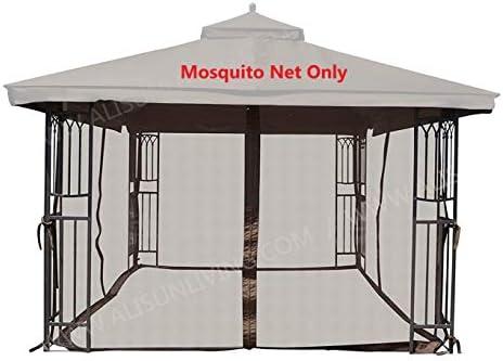 ALISUN Universal 12' x 12' Gazebo Mosquito Netting Brown