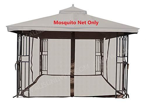 ALISUN Universal 12' x 12' Gazebo Mosquito Netting (Brown) (Netting Gazebo Mosquito)