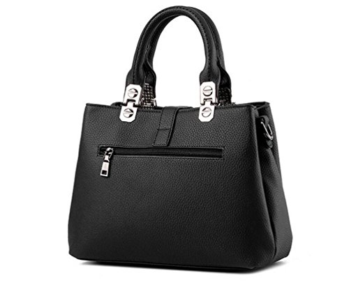 functional Pocket YAANCUN Tote Casual Multi Crossbody Handbags Black Bags Shoulder Womens Bags qwqapfB