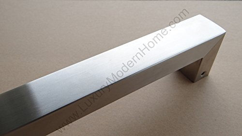 dh - 16'' Rectangular Tube Pull Shower Door Handle Square Stainless Steel 304 by LuxuryModernHome (Image #4)