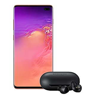 Samsung Galaxy S10+ Plus Factory Unlocked Phone with 128GB (U.S. Warranty), Flamingo Pink - SM-G975UZIAXAA w/Galaxy Buds