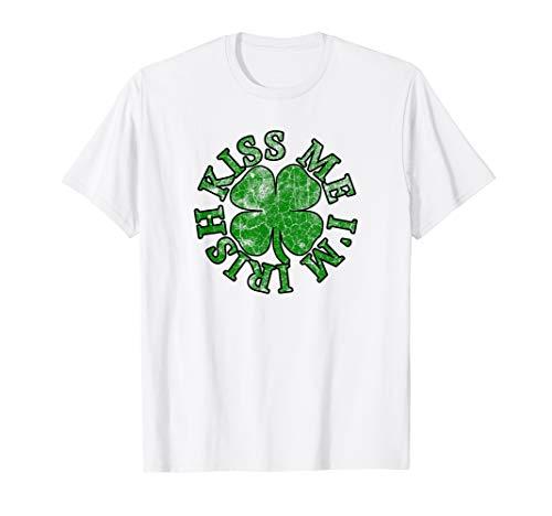 (KISS ME I'M IRISH Funny St. Patrick's Day T Shirt His Hers)
