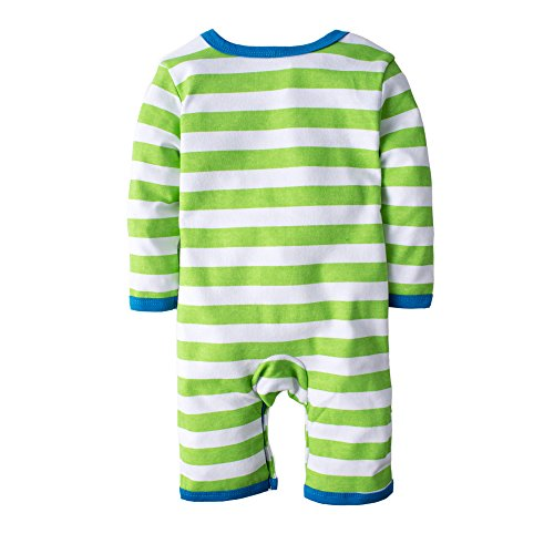 BIG ELEPHANT Baby Boys' One Piece Graphic Long Sleeve Romper Pajama