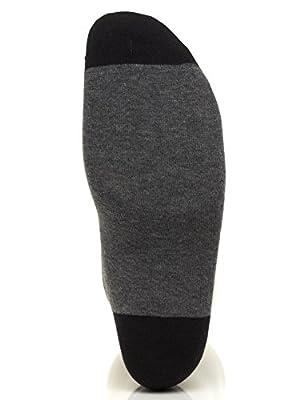 Calvin Klein Men's Blocked Micro-Stripe Crew Socks - 4 Pack, Black Assorted, Large
