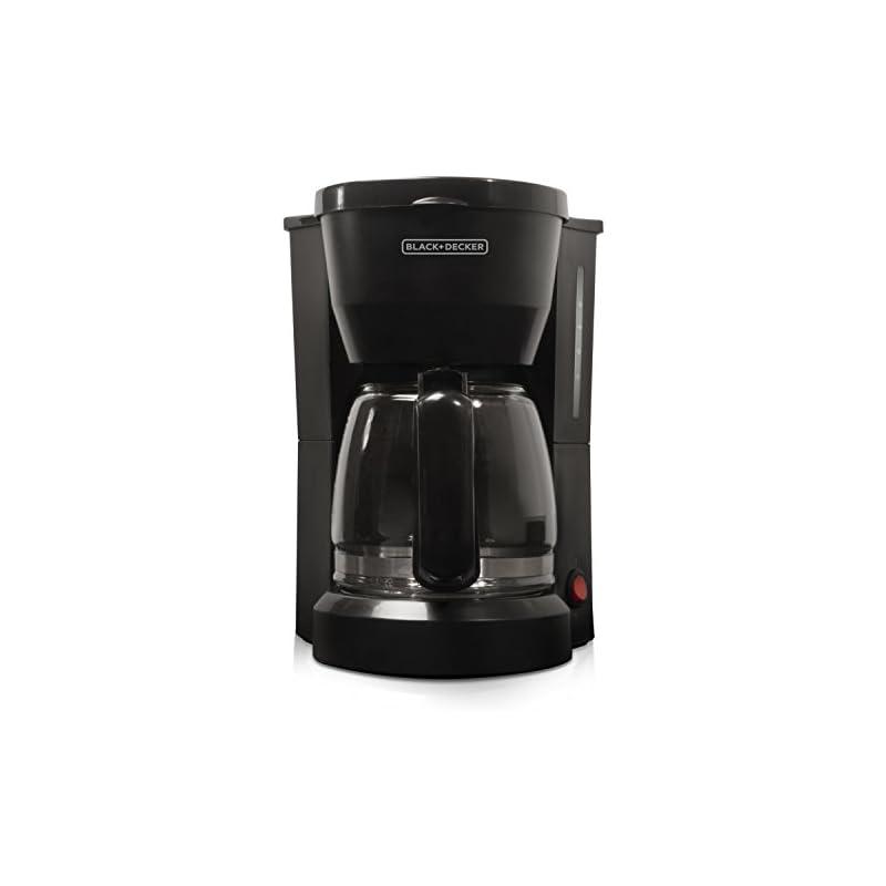 BLACK+DECKER 5-Cup Coffeemaker, Black, D