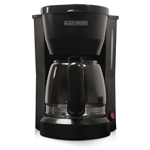 BLACK+DECKER 5-Cup Coffeemaker with Glass Carafe, White, DCM600W