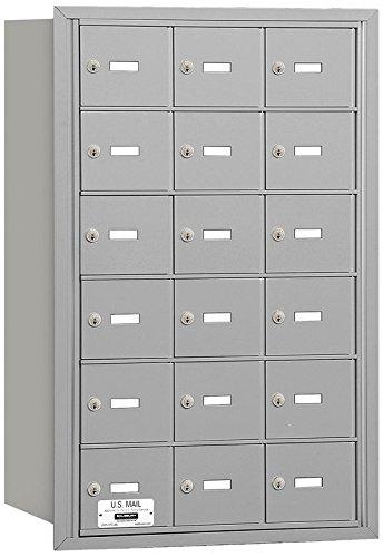 Salsbury Industries 3618ARU 4B Plus Horizontal Mailbox, 18 A Doors, Rear Loading, USPS Access, Aluminum