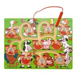 2 Item Bundle: Melissa & Doug 2280 Magnetic Number Maze + Free Activity -
