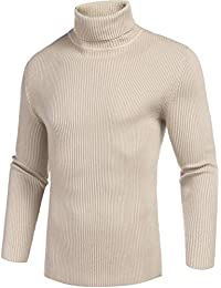 Mens Casual Basic Thermal Turtleneck Slim Fit Pullover Thermal Sweaters