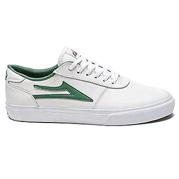 5ee557475ac Lakai MS117 Manchester - Color blanco verde piel monopatín zapatos   Amazon.es  Deportes y aire libre