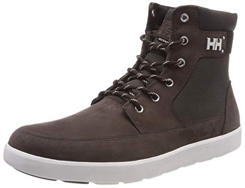 Helly Hansen Men's Stockholm Waterproof Winter Snow Sneaker Comfortable with Grip, Coffee Bean/Beluga/Off White, 9 ()