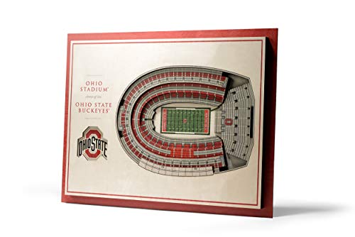 (NCAA Ohio State Buckeyes 5-Layer Stadiumviews 3D Wall Art )