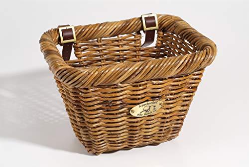 Weather Wicker Collection - Nantucket Bike Basket Co Rectangular Lt. Brown Basket