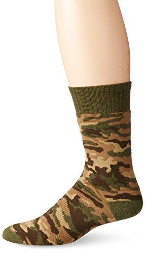 Carhartt Big Boys' Camo Boot Socks,  Olive, Shoe: 3-9