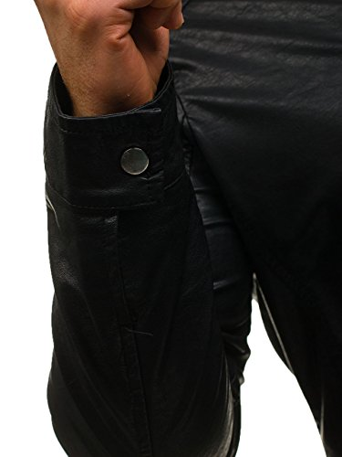 Di 4d4 Nero Bolf Con Pelle Uomo Giacca Zip – Casual vZ8ZxE