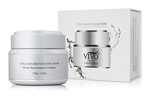 Collagen Mask for Face & Neck | Anti Aging Facial Mask with Argan Oil, Aloe Vera | Collagen Boosting Mask from Vivo Per Lei | Hydrating Mask for Moisture | Collagen Firming Mask to Bring the Spa Home