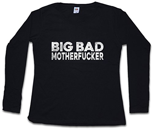 BIG BAD MOTHERFUCKER DAMEN GIRLIE LANGARM T-SHIRT – – Pulp Geldbeutel Mob Mobster Fiction G Hustler Pimp Größen XS – 2XL