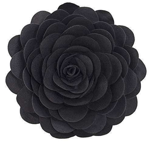 Eva's Flower Garden Decorative Throw Pillow With Insert - 13 inch Round -