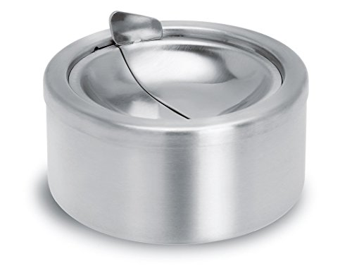 XY 12cm Stainless Steel Ashtray with lid (Stainless Steel Ashtray compare prices)