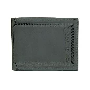 Carhartt Men's Top Grain Leather Passcase, Contrasting Stitch, Black, One Size