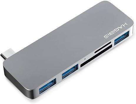 Amazon.com: Hagibis USB C Hub con 3 USB 3.0, lector de ...