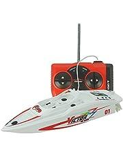 Tipmant Juguetes Creativos Mini RC Racing Boat Submarine Lancha Rápida Nave de Control Remoto por Radio Juguetes Electrónicos Niños Regalos de Cumpleanos - Blanco