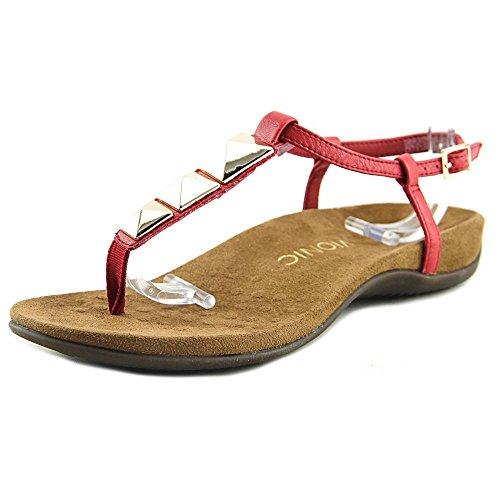 Sandalo Infradito Da Donna Vionic Nala Ad Alto Rischio Rosso / Caramello