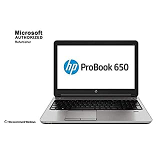HP ProBook 650 G1 15.6 Inch Business Laptop PC, Intel Core i5 4300M up to 3.3GHz, 16 GB DDR3L, 256 GB SSD, WIFI, DVD, VGA, DP, Win 10 Pro 64 Bit-Multi-Language Supports English/Spanish/French(Renewed)