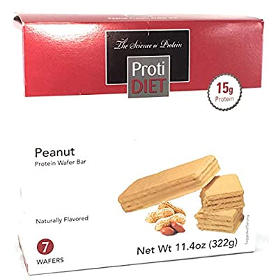 Proti Diet Peanut Wafer Bar - by Being Well Essentials - 7 wafers - 15g Protein (Single Box)
