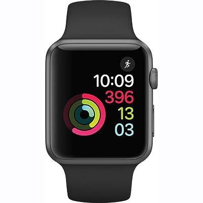 Apple Watch Series 1 42mm Smartwatch (Space Gray Aluminum Case, Black Sport Band)