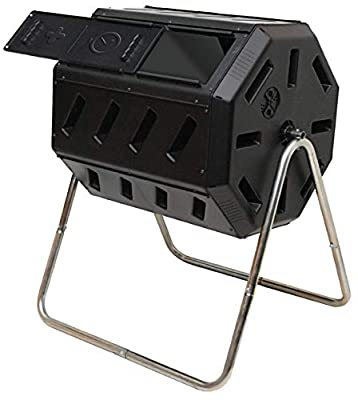 FCMP Outdoor IM4000 Tumbling Composter, 37 Gallon, Black (Renewed)