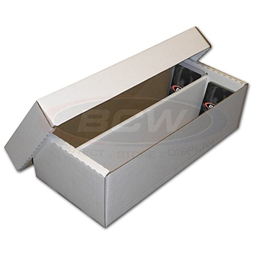 BCW Shoe 2 Row Storage Box (1600 Ct.) - Corrugated Cardboard Storage Box - BX-SHOE 2-Pack B07425VCSL