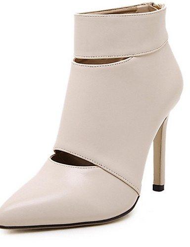 Puntiagudos 5 Stiletto Uk6 Uk6 Black 5 Tacón us8 Botas Eu39 White Zapatos Mujer Cn40 Negro Xzz De Semicuero Casual Cn39 Blanco us8 ZnqOAwX