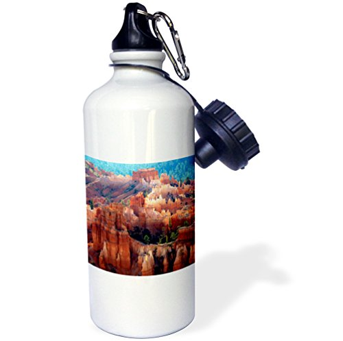 3dRose Hoodoos, Sunset Point, Amphitheater, Bryce Canyon NP, Utah, USA. -Sports Water Bottle, 21oz (wb_206078_1), 21 oz, Multicolor (Bryce Amphitheater)