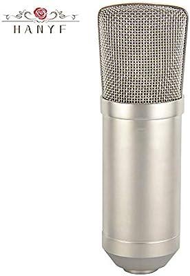 HANYF Condensador De La Tarjeta De Sonido del Micrófono Micrófono ...