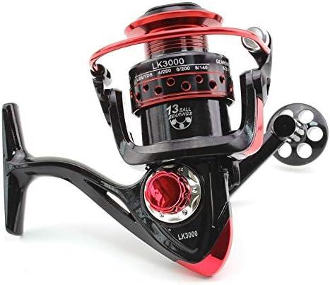 SUNXK 2000 3000 4000 Serie LK Pesca Spinning Wheel Carrete de Pesca de Agua Salada de Bobina de Metal Pesca Carretes Espiral de Metal Aparejos de Pesca (Color : 2000 Series, Size : 13): Amazon.es: Hogar