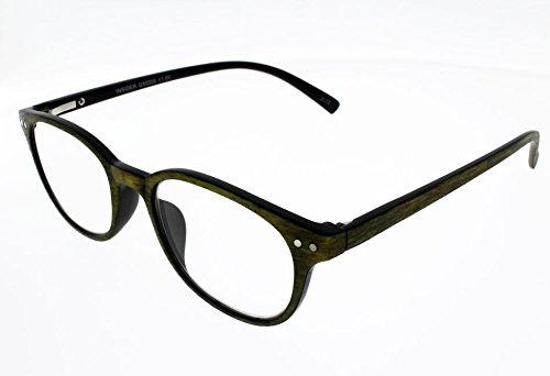 I NEED YOU Reading Glasses Insider Green Designer Woody Frames Eyeglasses For Men & Women Spring Hinge & High-Quality Plastic Eyeglasses Prescription Eyewear With Strength - Frames Glasses Ladies Designer