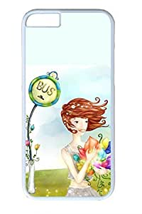 The Beauty Of The Girl Slim Soft For Iphone 5/5S Case Cover Case PC White Cases