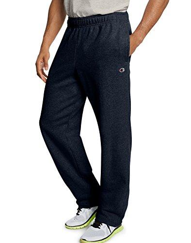 Champion Men's Powerblend Open Bottom Fleece Pant, Navy, 2XL