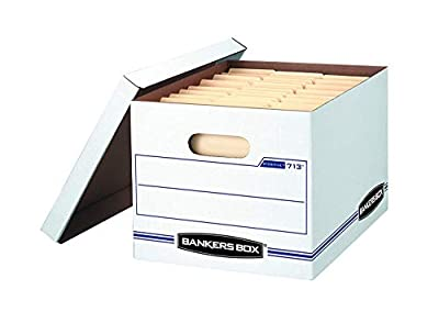 Bankers Box STOR/File Storage Boxes, Standard Set-Up, Lift-Off Lid, Letter/Legal