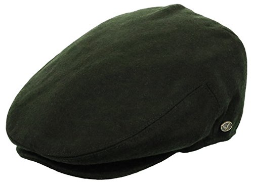 Men's Premium Wool Blend Classic Flat Ivy Newsboy Collection Hat ,1581-Olive, Large