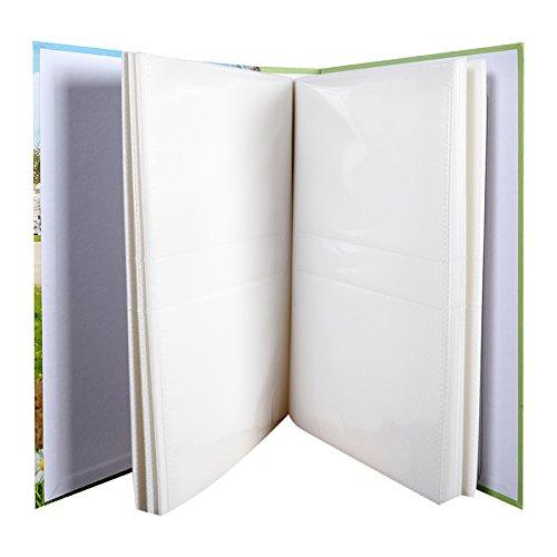 Nounours /álbum de fotos con fundas existe aussi en beige y azul 200/fotos 10/x 15/cm, color verde, protectora en papel estampado, Dimensions: 17.9/x 25,7/cm