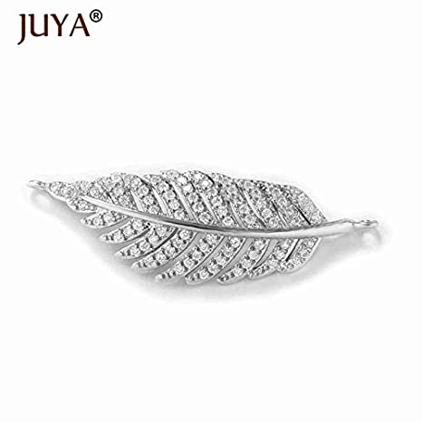 Laliva Jewelry Making Supplies Gold Silver Rose Gold Luxury Zircon  Rhinestone Leaf Charm connectors for DIY 20aa506ef8f9