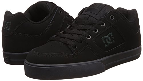 DC Men's Pure Skate Shoe, Black/Pirate Black, 13 M US